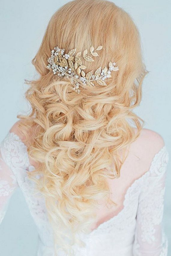 Long wedding hairstyles and wedding updos from Websalon Weddings   / www.deerpea...