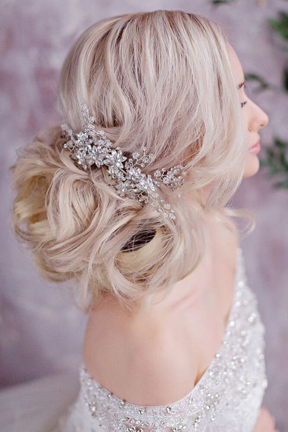 Long wedding hairstyles and wedding updos from Websalon Weddings   / www.deerpea...