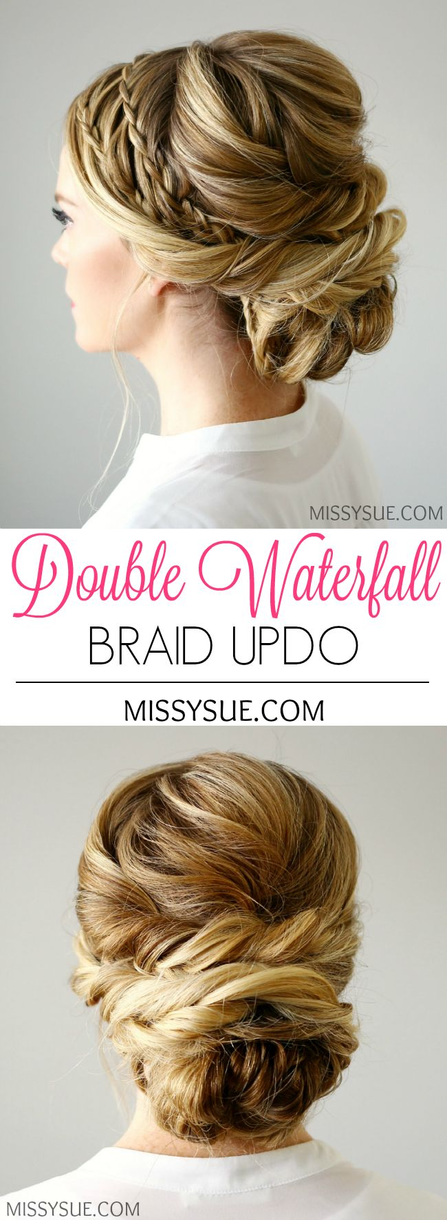 Bridal Hairstyles Inspiration : Double Waterfall Braids Updo ...