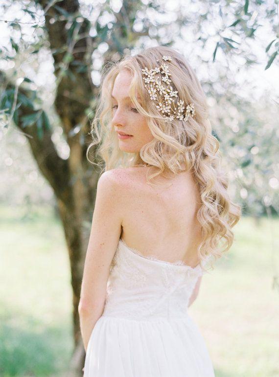 Wedding Hairstyles Bridal Headpiece Crystal Headpiece Floral