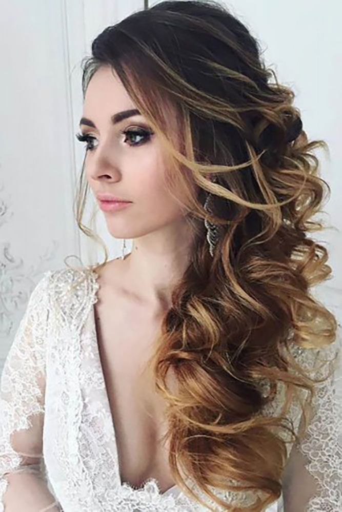 15 Perfect Combinations Of Wedding Hairstyles And Bridal Dresses ❤ See more: w...