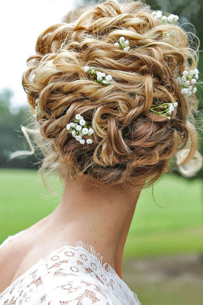 18 Oh So Perfect Curly Wedding Hairstyles ❤ Almost all of the curly wedding ha...