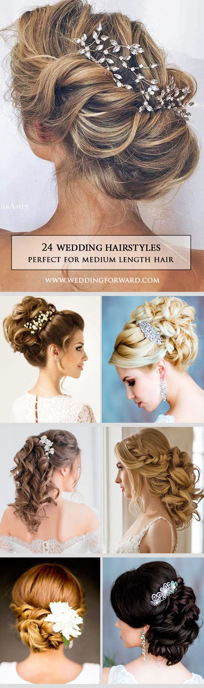 24 Timeless Wedding Hairstyles For Medium Length Hair ❤  Do you have the quest...