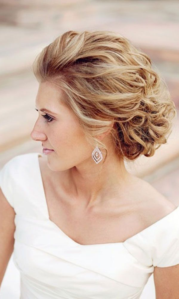 Gorgeous wedding hairstyle for short hair. Great for both vintage or modern them...