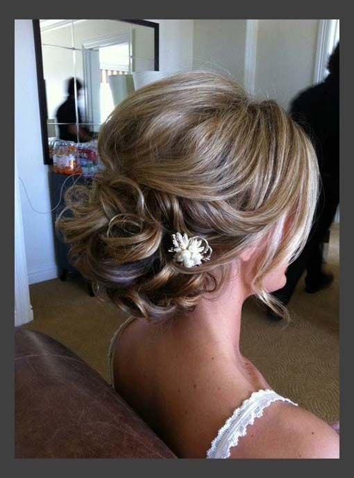 Hairstyles, Beautiful Short Hair Updos For Wedding: Simple Style of Wedding Updo...