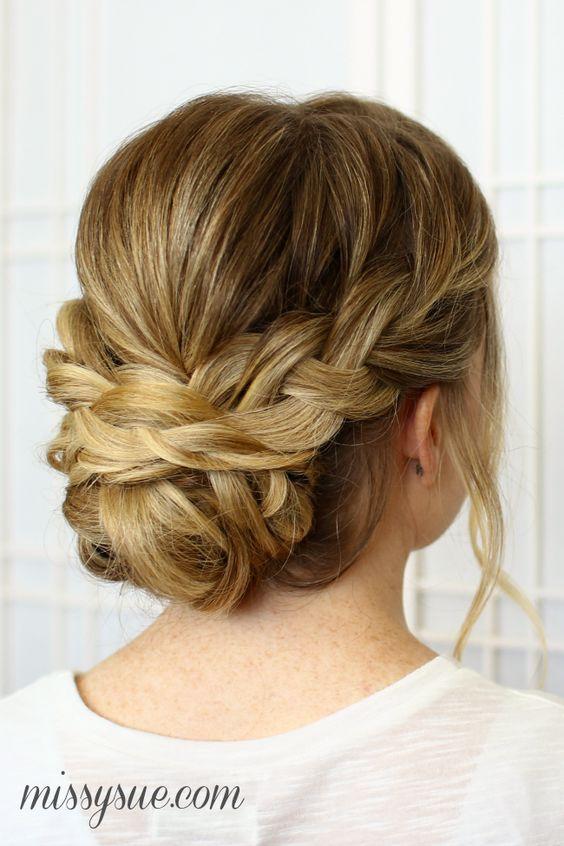 Bridal Hairstyles : Soft Braided Updo for Wedding Hair / www ...