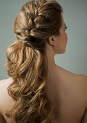 braid hair ponytail with curls