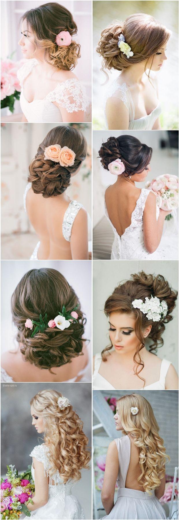 long wedding hairstyles updos with flowers / www.deerpearlflow...