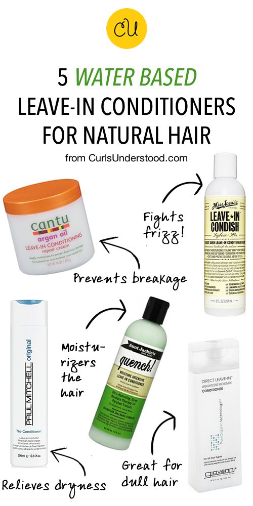 5 Water Based Leave-In Conditioners for Natural Hair