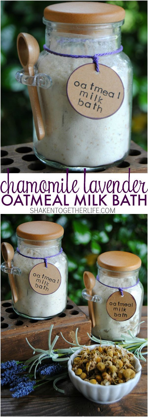 Chamomile Lavender Oatmeal Milk Bath - soothing and pampering and perfect for gi...