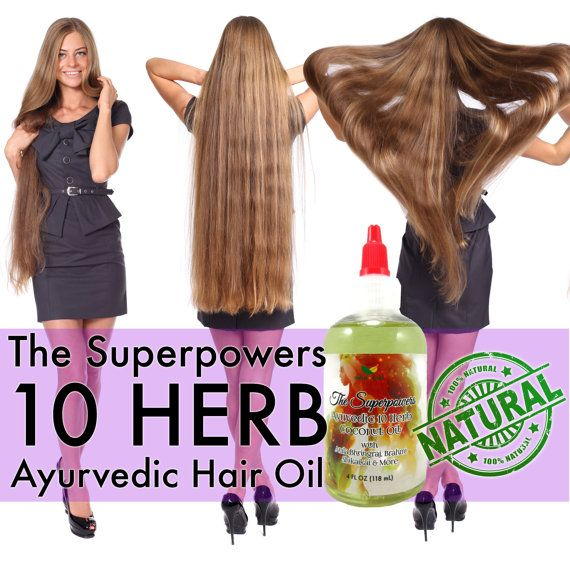 The Superpowers Ayurvedic 10 Herb Coconut Hair Growth Oil - For ALL Races & Hair...