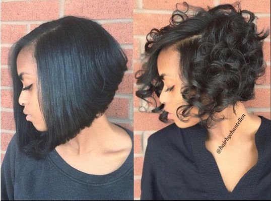 Curly And Straight Perfection @hairbychantellen... Which Do You Prefer? - commun...