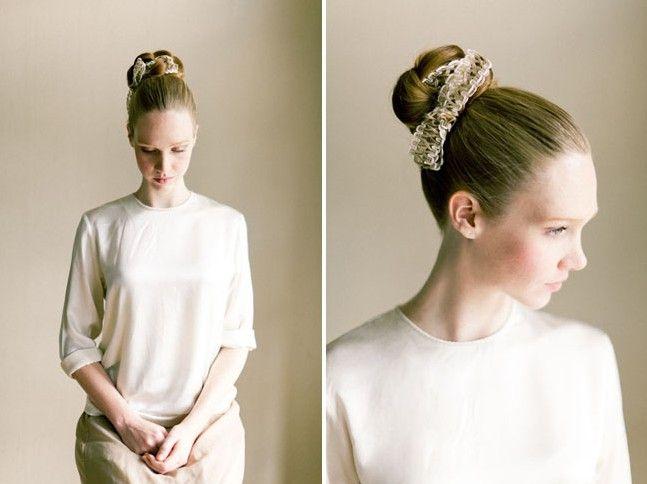 Easy, Bridal Braid Updo Hairstyles: Fabric Bun Hair Tutorial