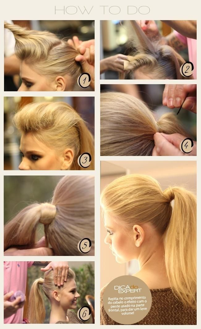 Easy, High Ponytail Hairstyle Tutorial