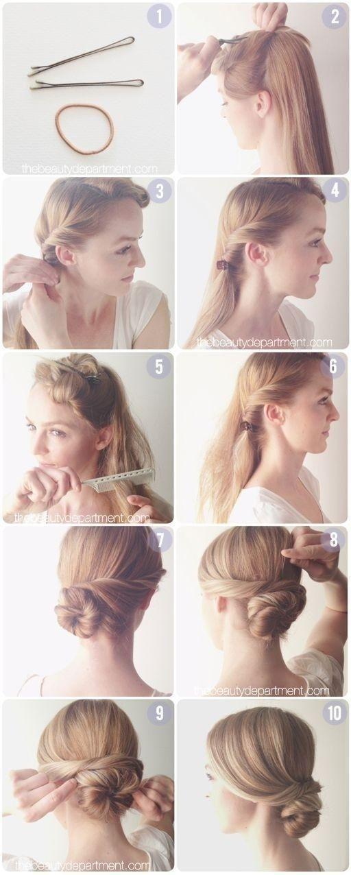 Everyday Hairstyles Tutorial: Easy Low Chignon Bun