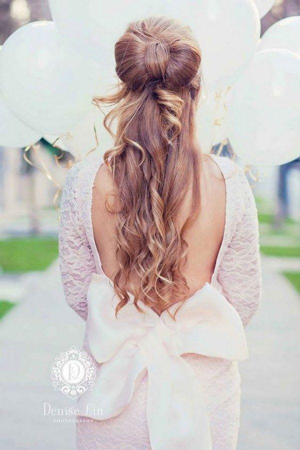 half up half down wedding hairstyle via Denise Lin Photography / www.deerpearlfl...
