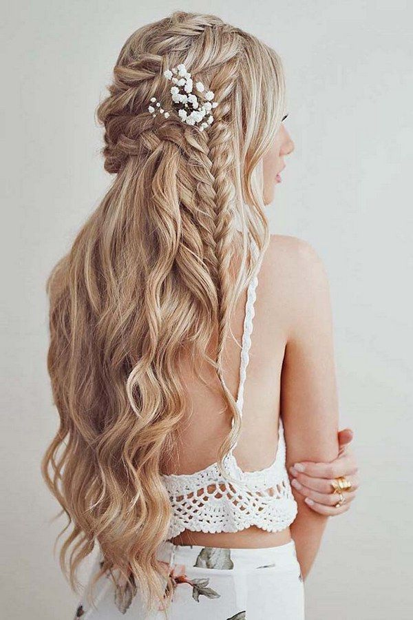half up half down wedding hairstyles via emmas_parlour / www.deerpearlflow...