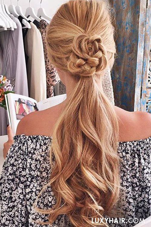 summer ponytail hairstyle from Luxy hair