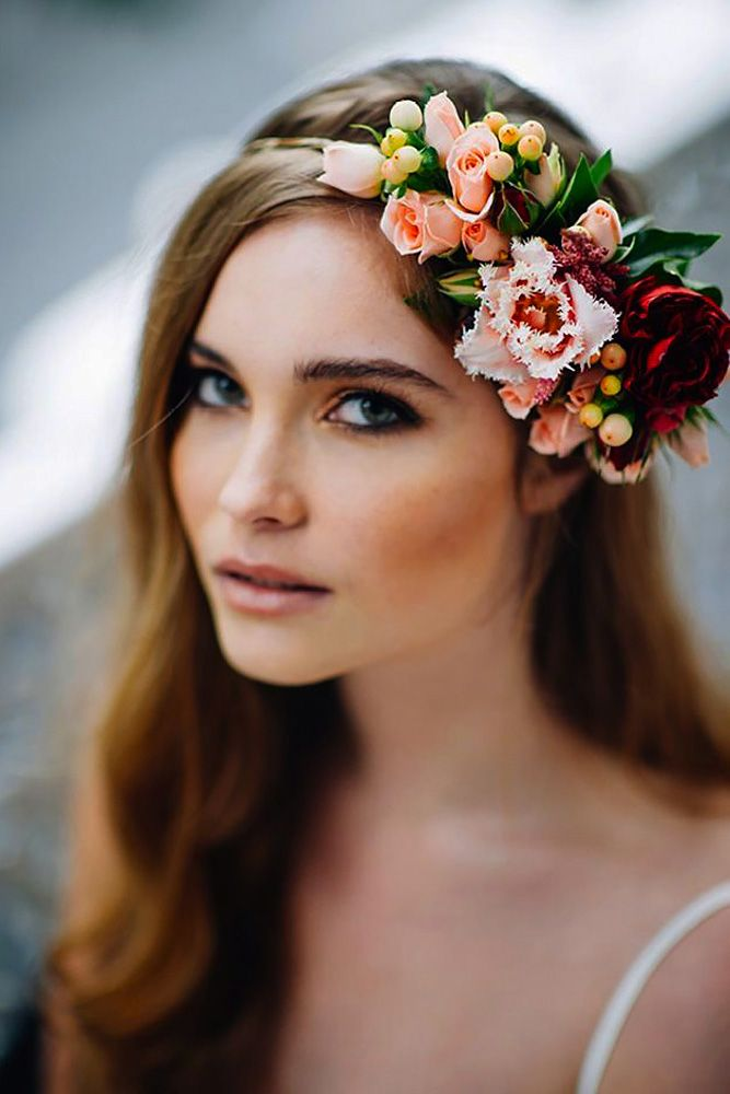 18 Gorgeous Blooming Wedding Hair Bouquets ❤ See our gallery of blooming weddi...