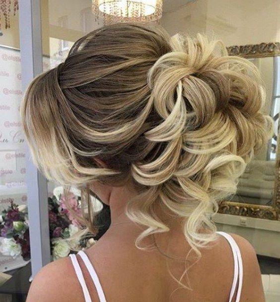 curly updo wedding hairstyle via elstile / www.himisspuff.co...