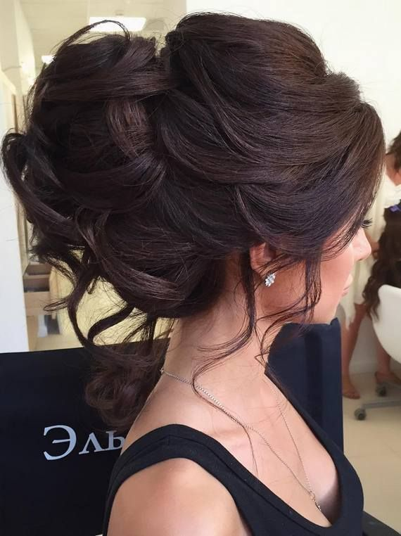 Romantic wedding hairstyle idea for the brunette bride and her elegant New York ...