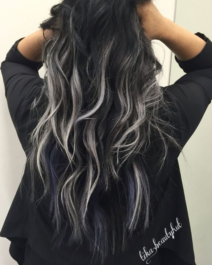 This gray balayage hair color is a must-try for any fashion forward individual.