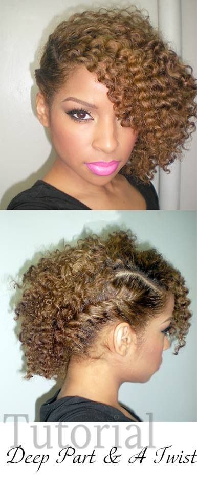 Here are 5 easy hairstyles you can do on your 3c natural hair, for this spring a...
