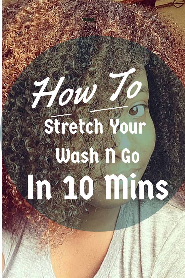 How To Stretch Your Wash N Go In 10 Mins #Naturalhair #NaturalHairStyles #Natura...