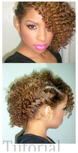 Side braid with twist out. To learn how to grow your hair longer click here - bl...