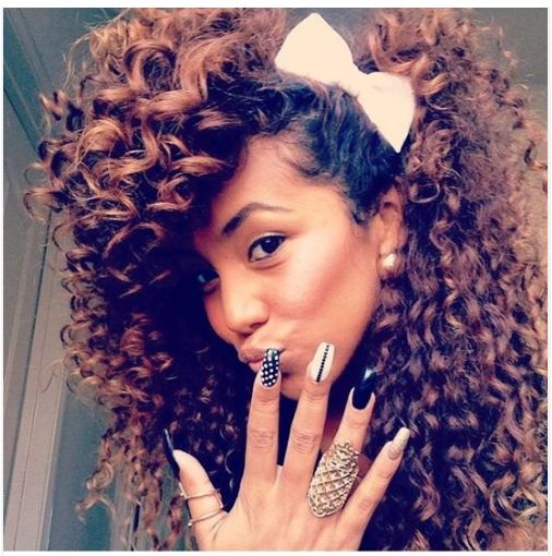 Thanks to Stacey for submitting this wonderful, bold and curly hair picture of h...