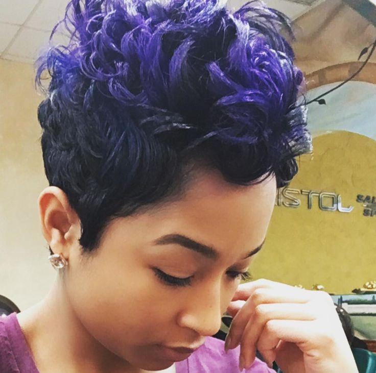 Short Haircuts Blue Purple Mix Via Salonchristol Community Blackha Jpg Beauty Haircut Home Of Hairstyle Ideas Inspiration Hair Colours Haircuts Trends