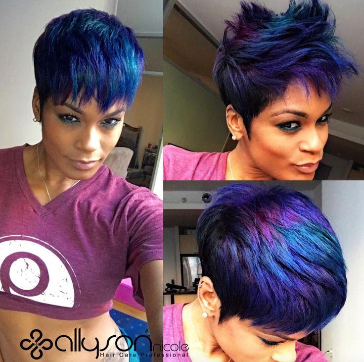 Short Haircuts Funky Hair Color Modern Salon Community Blackhag