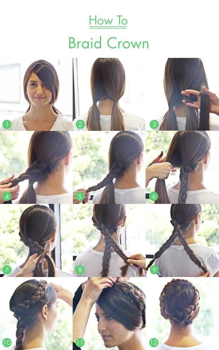 Braid Crown Tutorial for Long Hair