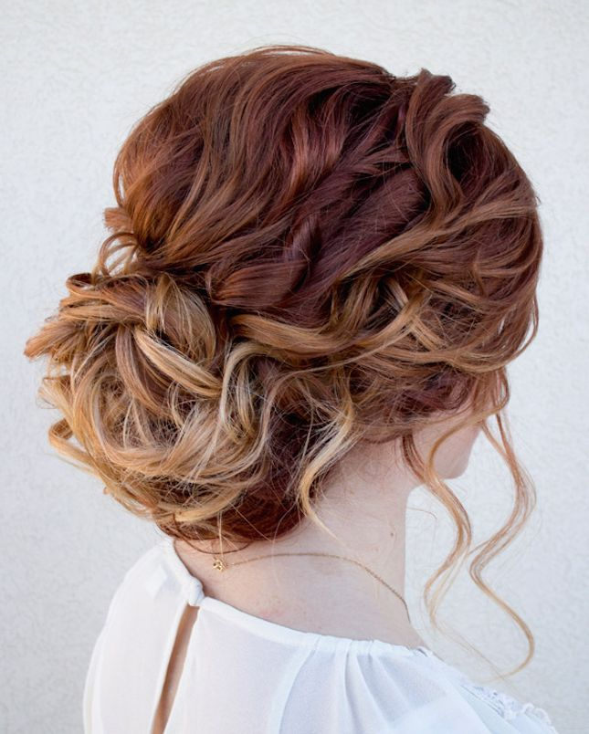 Curly Bun-Top 12 Romantic Hairstyles for Summer | Latest Bob Hairstyles