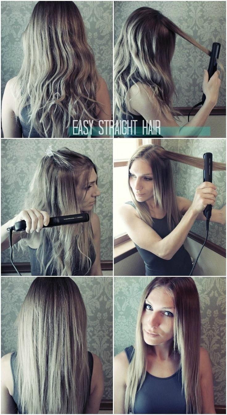 Easy Straight Hairstyles for Girls: How to Straighten Hair