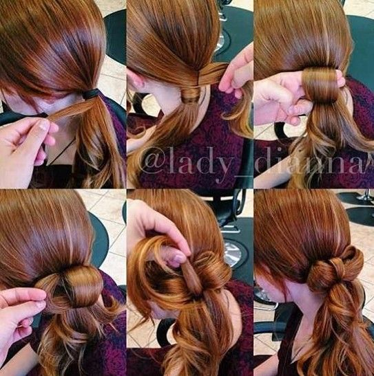 Knot Ponytail Hairstyle