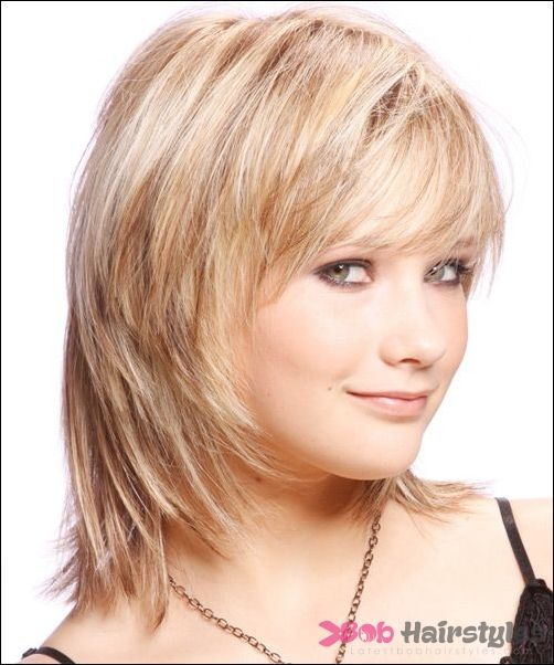 Medium Layered Bob Haircuts For Round Faces | Latest Bob Hairstyles | Page 2