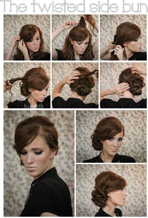 10 Ways to Make Lovely DIY Side Hairstyles   Latest Bob HairStyles