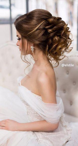 Featured Hairstyle: Elstile; www.elstile.com; Wedding hairstyle idea.