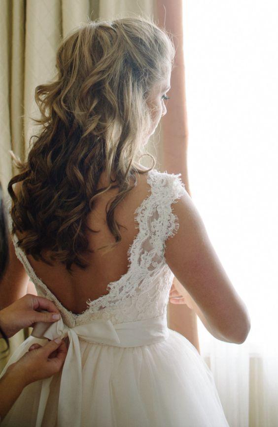 Featured Photographer: Sean Money + Elizabeth Fay; Wedding hairstyle idea.