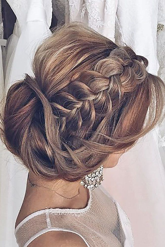 Gallery: braided wedding hairstyles via ulyana aster - Deer Pearl Flowers / www....
