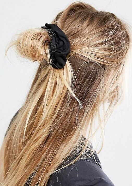 "All it takes is a scrunchie or ""hair cloud"" as they're now known to spruce..."