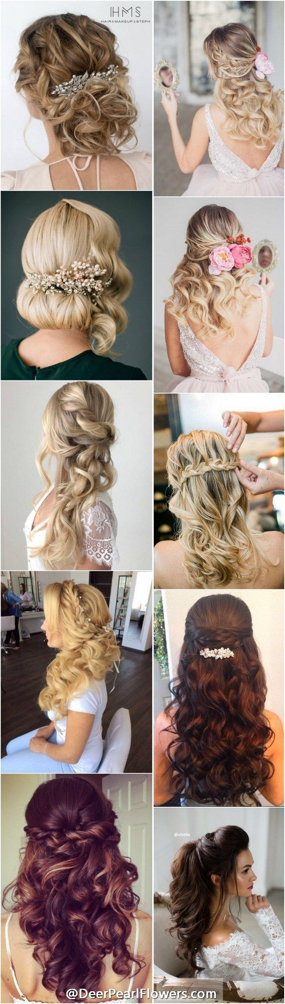 1000+ Wedding Hairstyles for Long Hair | www.deerpearlflow...