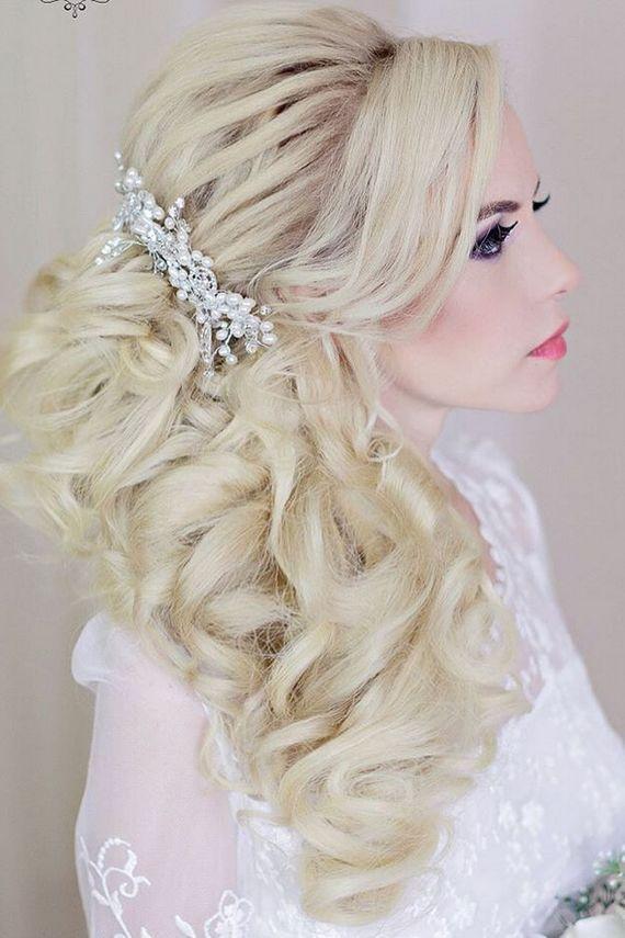 Long wedding hairstyles and wedding updos from Websalon Weddings / www.deerpearl...