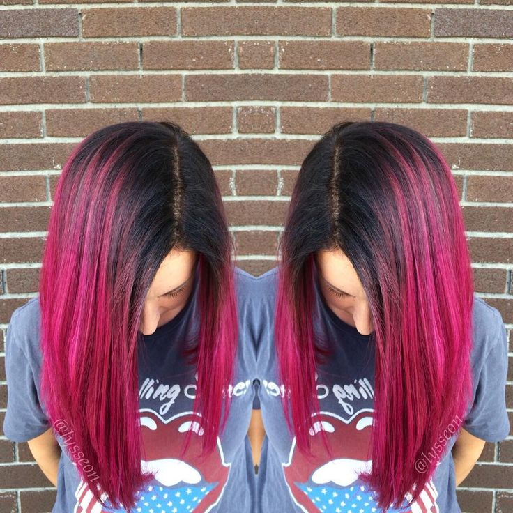 A rooty pink makeover on my girl Lauren!