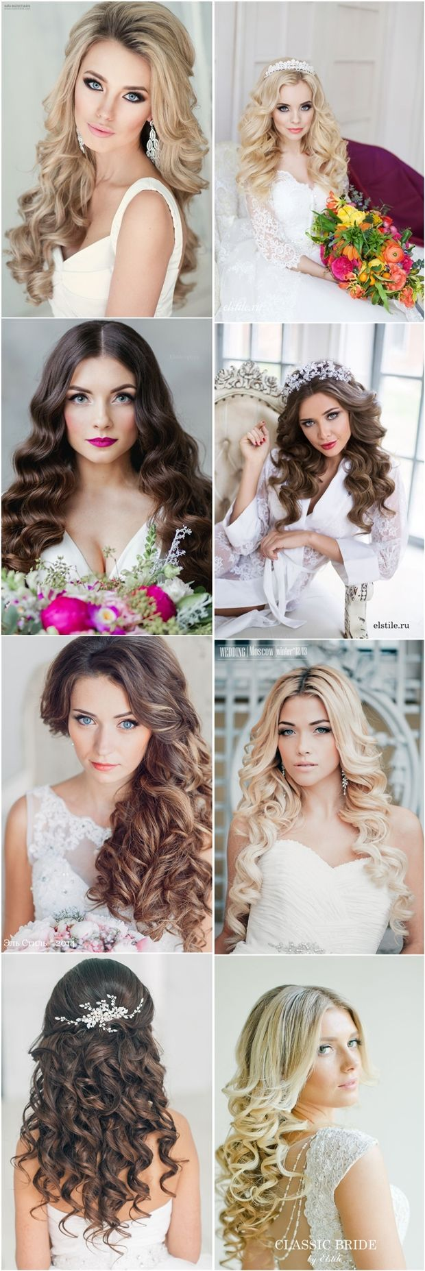 Gallery: Classic Dwon wedding hairstyles for long hair - Deer Pearl Flowers / ww...