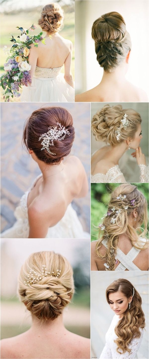 Gallery: Elegant chic long wedding hairstyle ideas - Deer Pearl Flowers / www.de...