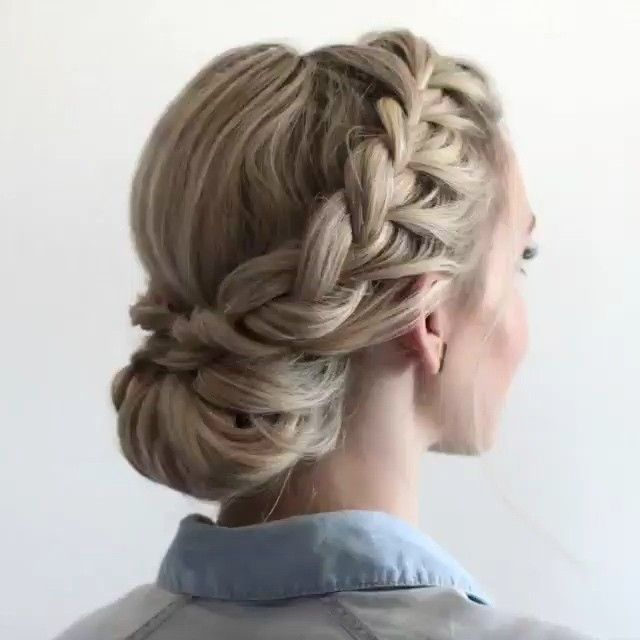 Double Braided Updo by @anniesforgetmeknots - TAG Someone who should try this lo...