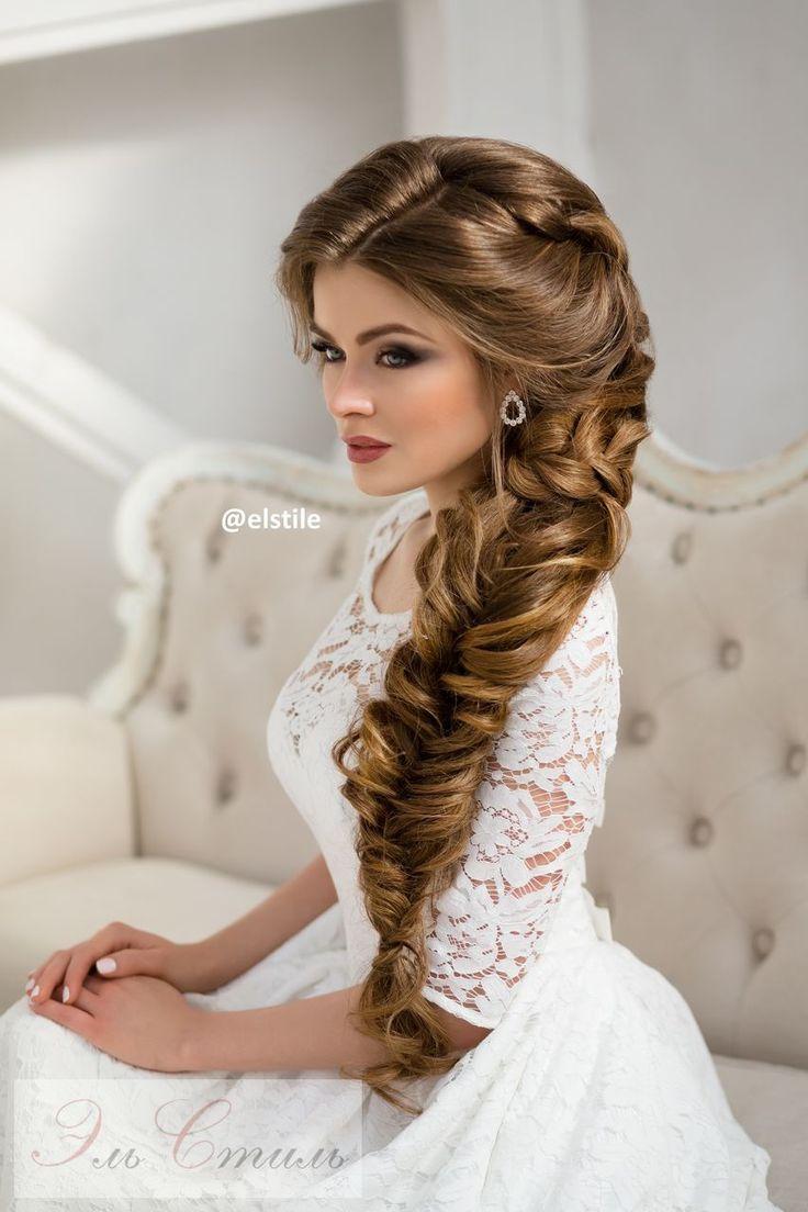 Bridal Hairstyles : long braided wedding hairstyle via Elstile ...