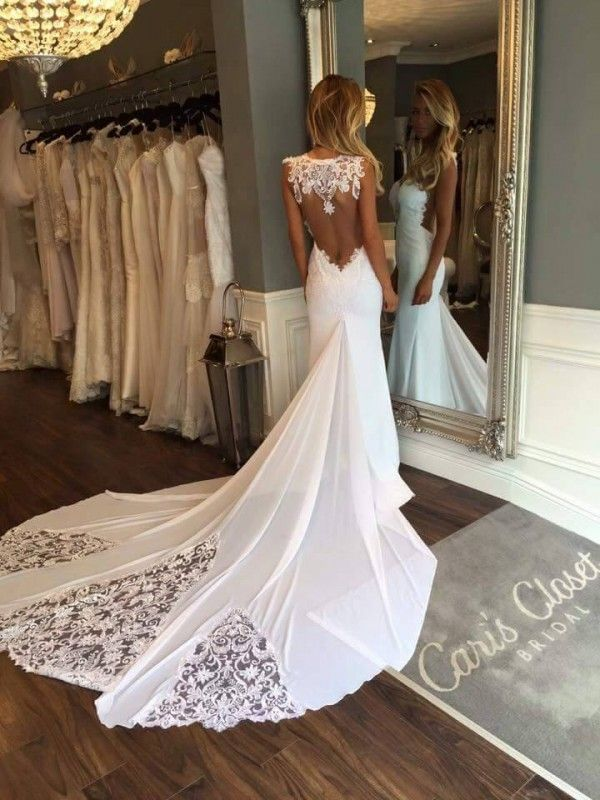 Bridal Hairstyles Inspiration Sweetheart Sleeveless Backless Sexy